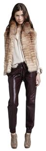 Haute Hippie Fox Fur Leather Vest