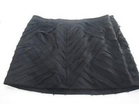 Haute Hippie Pleated Drape Silk Mini Skirt black