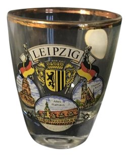 Heirloom Collectibles Collectable Leipzig Germany Gold Rimmed Shot Glass