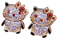 Hello Kitty Red Garnet Studs