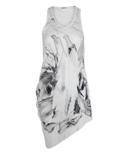 Helmut Lang Dark Flower Print Top White