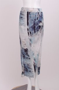 Helmut Lang Kinetic Knit Maxi Skirt Blue