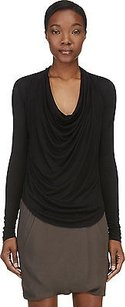 Helmut Lang Cowl Neck Top Black