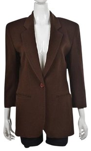 Henri Bendel Henri Bendel Womens Brown Blazer Textured Long Sleeve Wtw Jacket