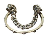 Henri Bendel Henry Bendel double cuff silver with chain.