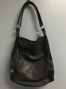 Henry Beguelin Leather Tote in Black