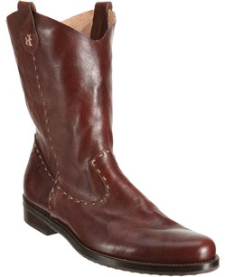 Henry Beguelin Henry Cuir Beguelin Leather Slouchy Western Stitch Cowboy Brown Boots