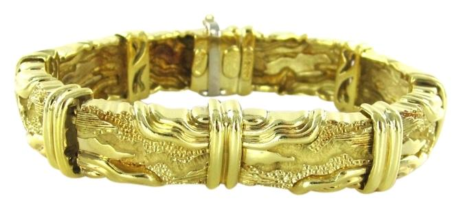 Henry Dunay Designs Gold 18kt Yellow Bangle Vintage 702 Grams