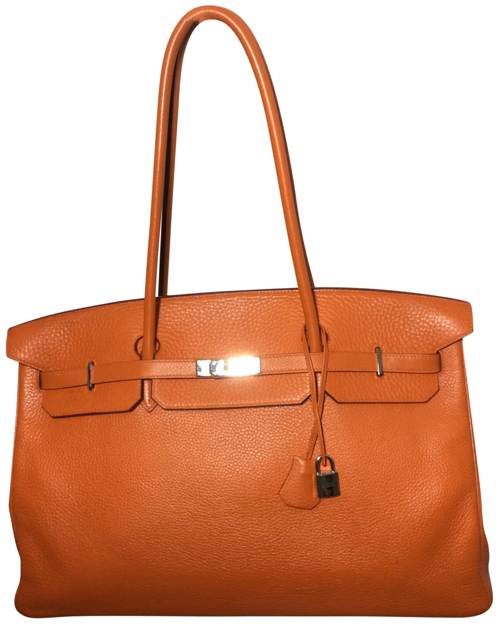 b9089b29df84 ... where to buy hermès birkin togo limited edition tote in orange 3fb9a  3b794