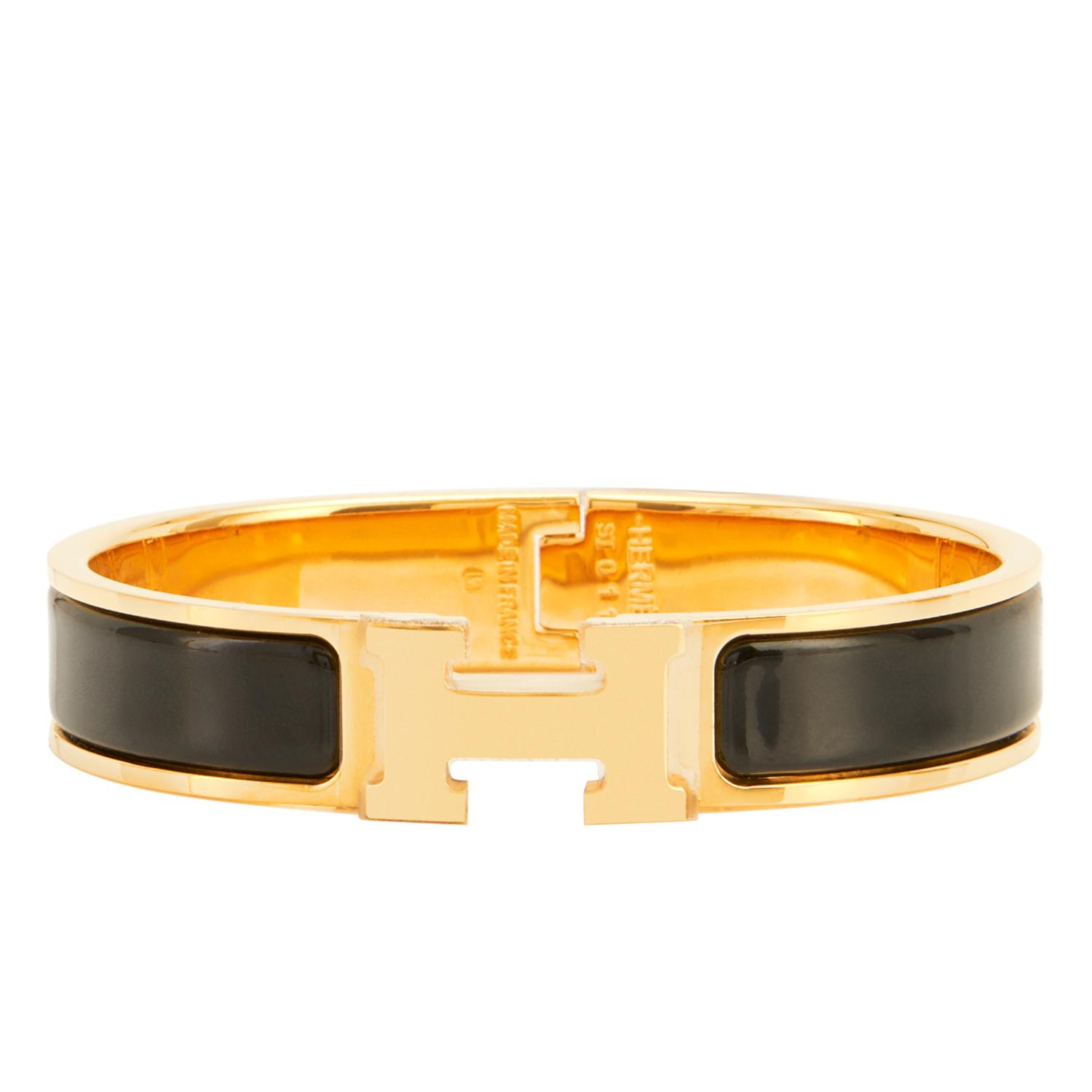 17aace28569 ... discount code for hermès black clic h bracelet tradesy 59fea 354aa