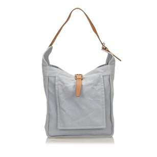 Hermès Blue Brown Canvas 6dhesh001 Shoulder Bag