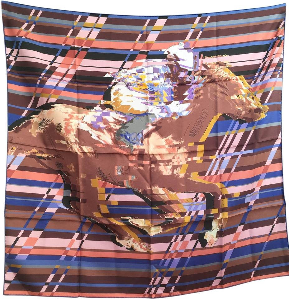 burberry silk scarf outlet k5pu  Herms Carre 90cm Twill Photo Finish Silk Scarf NWT
