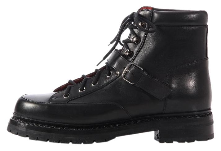 Hermès Black Leather Hiking Boots on Sale, 54% Off | Boots ...
