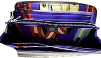 Hermès Gift Hermes Etoupe Blue Electric Silk-in Azap Long Wallet Taupe