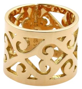 Hermès Hermes 18k Yellow Gold Open Swirl Pattern 15mm Wide Band Ring 52-us 6.25