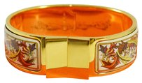 Hermès HERMES Bangle Bracelet Gold Brown