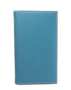 Hermès Hermes Blue Epsom leather agenda cover case