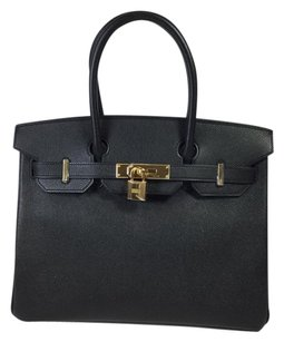 Hermès Epsom Leather Birkin Satchel in Noir
