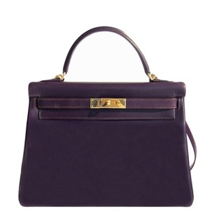 Hermès Hermes Raisin Box Kelly Satchel in Purple