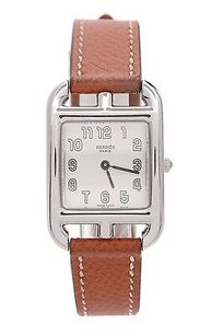 Hermès Hermes Stainless Steel Epsom Leather Cape Cod Pm Watch