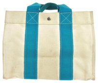 Herms Hermes Tote in Blue, White