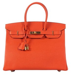 Hermès Hr.k0708.08 Orange Epsom Leather New Satchel