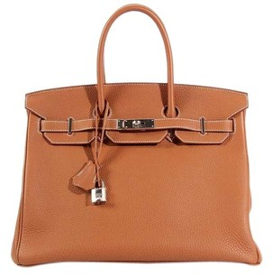 Hermès Hr.k0916.01 Tan Brown Togo Leather Satchel