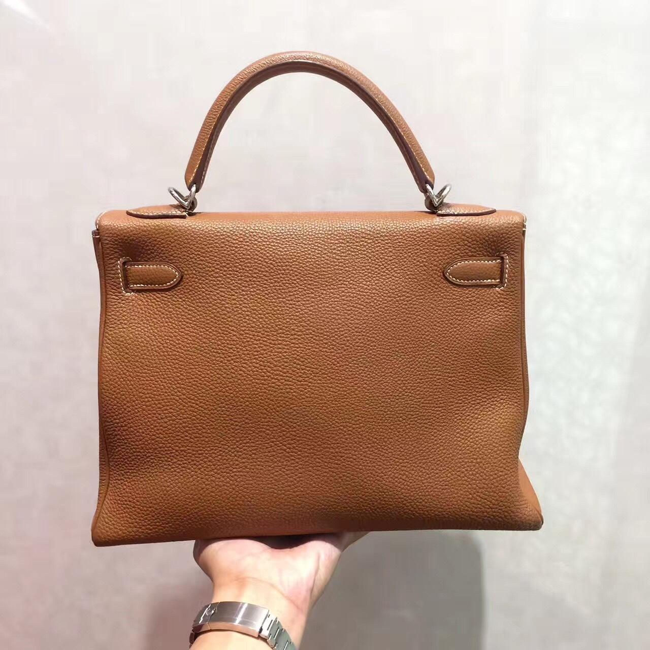 bd9728aa590cb ... official hermès kelly 32 gold togo leather tote tradesy ca0a2 19070 ...