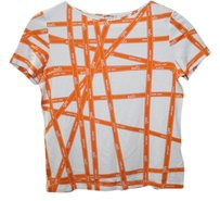 Hermès Orange White T Shirt Orange/White
