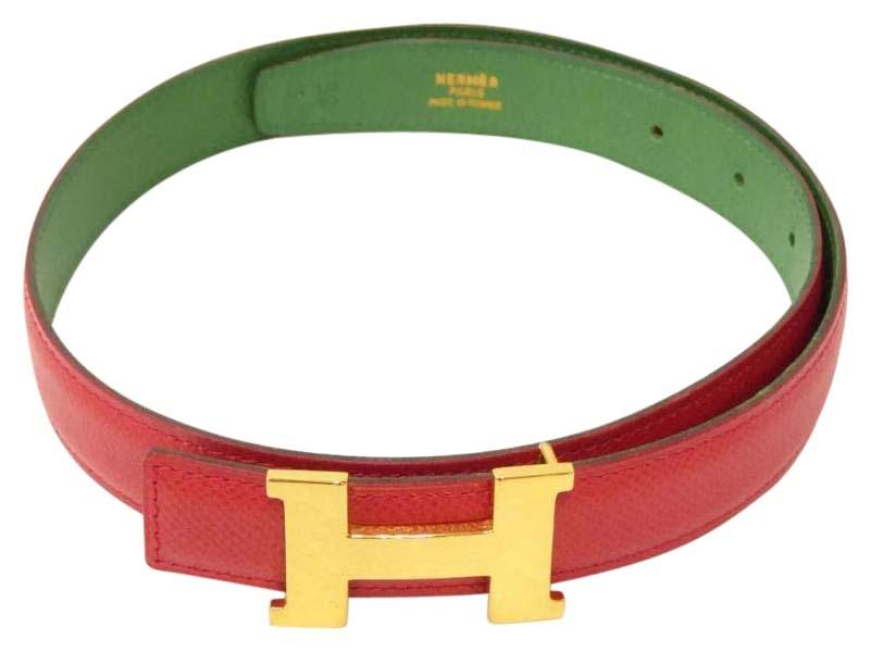 0ff0d2ef8503a ... buy hermès hermes mini belt h logo buckle red green with dust bag 9be1f  3db68