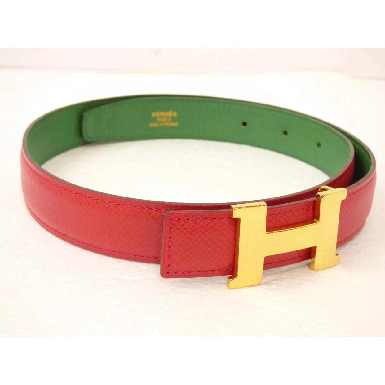 f31d3c0a0fc41 ... shopping hermès red mini h logo buckle green with dust bag belt tradesy  cf20e 81c5d