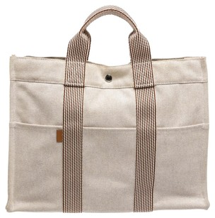 Herms Tote in Beige/Brown