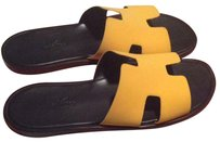 Herms yellow Sandals