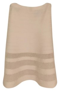 Herve Leger Bandage Cutout Skirt White