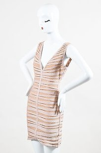 Hervé Leger Leger Nude Eliza Bandage Dress