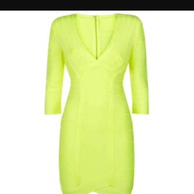 Bright Yellow Cocktail Dresses