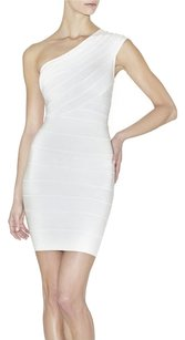 Hervé Leger White Bandage Dress