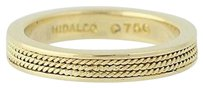 Hidalgo Hidalgo Stackable Band - 18k Yellow Gold Rope Design Wedding Ring