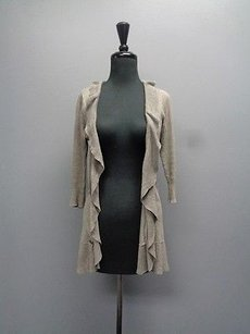 Hinge Cardigan W Ruffles And 34 Sleeves Cotton Blend Sma967 Sweater