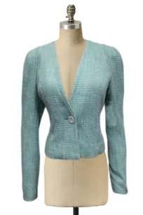 Hinge From Nordstrom Crop Aqua White Jacket