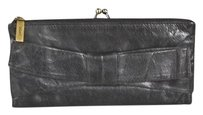 Hobo International Hobo Womens Black Clutch Leather Solid Wallet Purse Handbag
