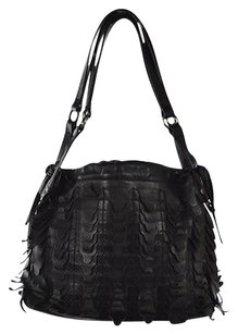 Hogan Womens Textured Satchel in Black