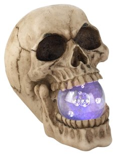 Home Locomotion Halloween Skull With Led Light Up Ball