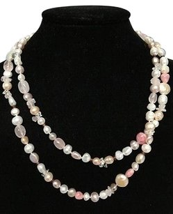 Honora Honora Pink White Clasp Fasten 40 Freshwater Pearl And Stone Necklace B3379