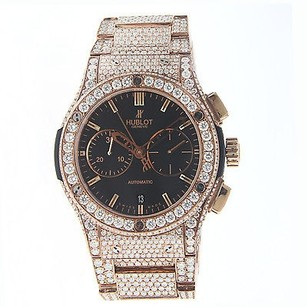 Hublot Hublot Classic Fusion Chronograph Rose Gold 45mm - Diamonds - 521.ox.1180.ox