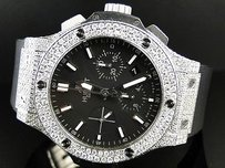 Hublot Mens Custom Hublot Big Bang Mm Genuine Diamond Watch Ct