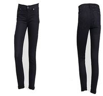 Hudson Jeans Hudson Dark Denim High Waist Linen Cropped Capris 27 Capri/Cropped Pants Dark Wash