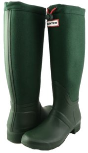Hunter Tour Canvas Green Boots