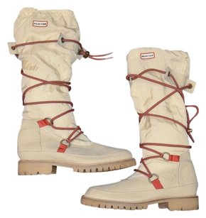 Hunter Summit Leather Ivory Boots