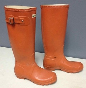 Hunter Pull High Buckle Waterproof Rain B2881 Orange Boots